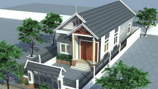 Những mẫu nhà cấp 4 đẹp ở nông thôn giá rẻ, chi phí thấp hoàn toàn có thể xây được-1
