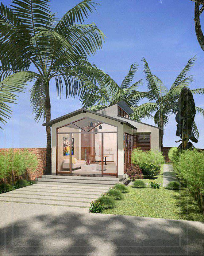 Những mẫu nhà cấp 4 đẹp ở nông thôn giá rẻ, chi phí thấp hoàn toàn có thể xây được-10