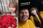 Huỳnh Anh bay vào Đà Nẵng cổ vũ Quang Hải thi đấu: Tiếp tục tinh thần chàng ở đâu nàng theo đó không rời-3
