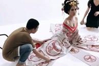 Ngọc Trinh bắt chước Phạm Băng Băng làm Võ Tắc Thiên, o ép vòng 1 đến ngộp thở
