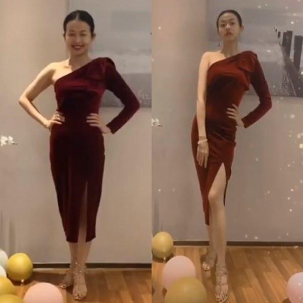 Đến Ngọc Trinh mà không áp dụng thủ thuật tạo dáng này thì điểm sexy cũng vơi đi phân nửa khi diện váy xẻ vạt-1