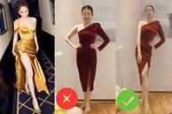 Đến Ngọc Trinh mà không áp dụng thủ thuật tạo dáng này thì điểm sexy cũng vơi đi phân nửa khi diện váy xẻ vạt