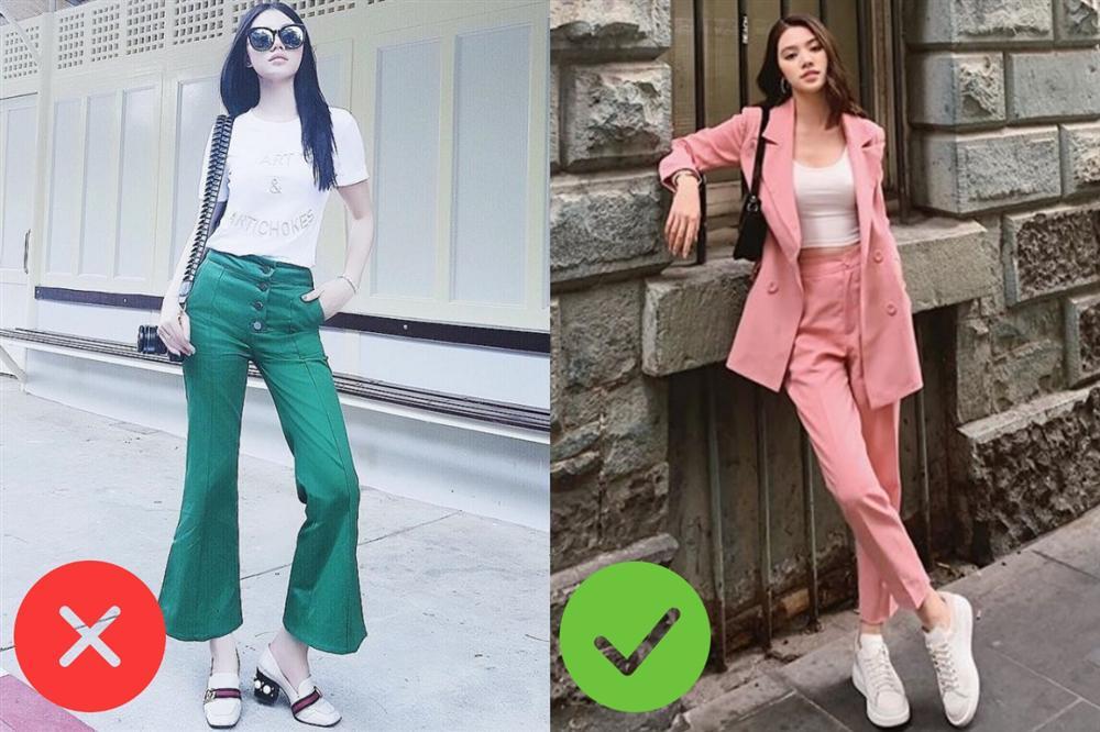 Nhìn Jolie Nguyễn mà rút kinh nghiệm, chị em đừng chọn mẫu quần này nếu không muốn dìm dáng và người lùn 1 mẩu-1