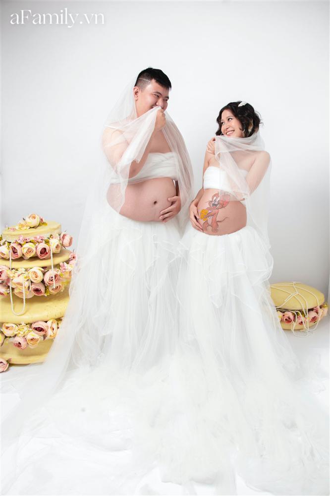 Bộ ảnh bầu hot nhất MXH: Bố bụng mỡ tạo dáng xinh không kém mẹ bầu, ai xem cũng phải thốt lên quá dễ thương-10