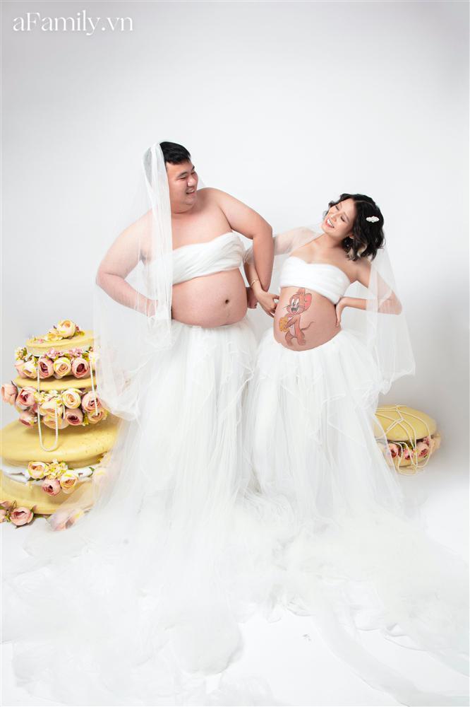 Bộ ảnh bầu hot nhất MXH: Bố bụng mỡ tạo dáng xinh không kém mẹ bầu, ai xem cũng phải thốt lên quá dễ thương-8