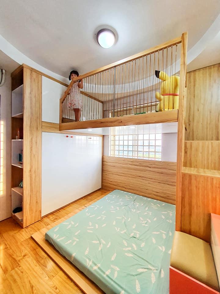 Ông bố trẻ quyết định đầu tư làm tặng con gái 1 phòng gác lửng đẹp như mơ với chi phí thật sự ấn tượng-2