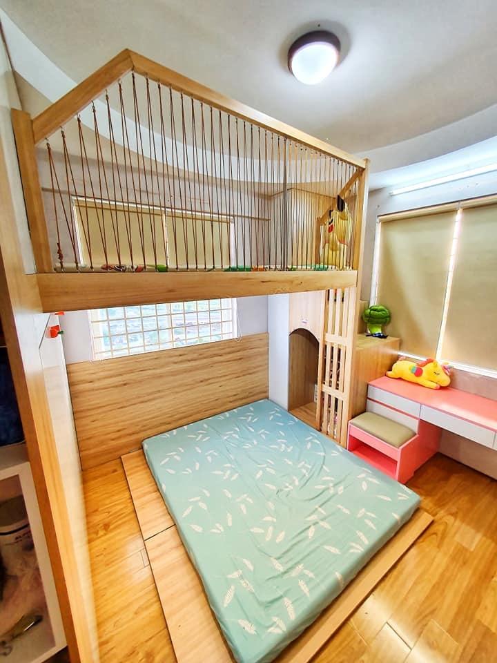 Ông bố trẻ quyết định đầu tư làm tặng con gái 1 phòng gác lửng đẹp như mơ với chi phí thật sự ấn tượng-6