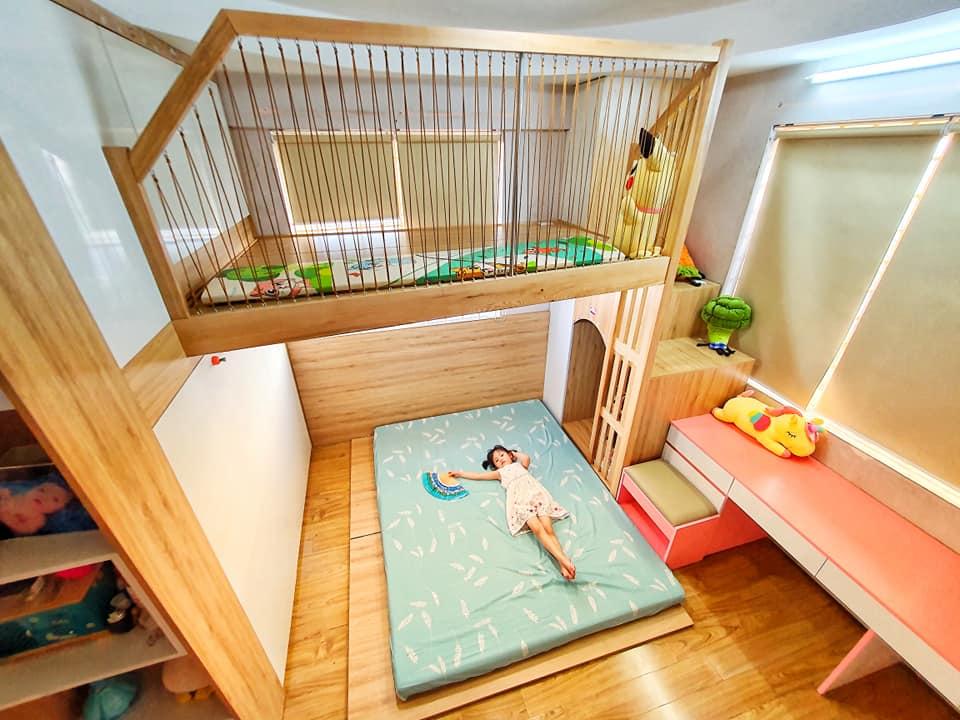 Ông bố trẻ quyết định đầu tư làm tặng con gái 1 phòng gác lửng đẹp như mơ với chi phí thật sự ấn tượng-10