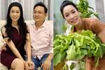 Ông xã trồng rau xum xuê, Trịnh Kim Chi thích thú 'ra tay' làm bánh xèo đãi cả gia đình