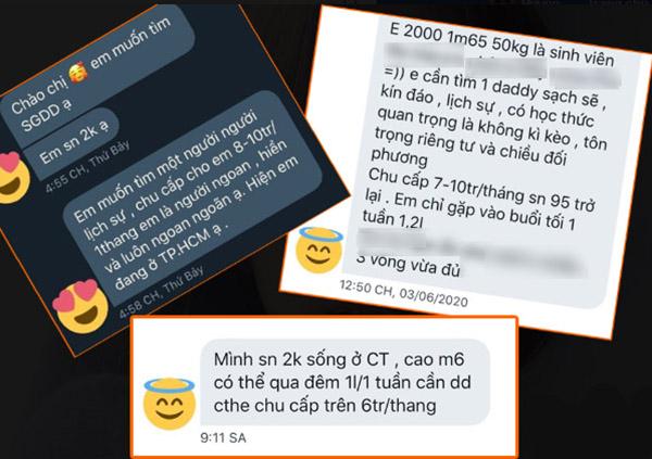 Dân mạng xôn xao group kín facebook các em gái sinh năm 99, 2000 tìm daddy bao nuôi, nhàn nhã mỗi tháng kiếm vài chục triệu-1