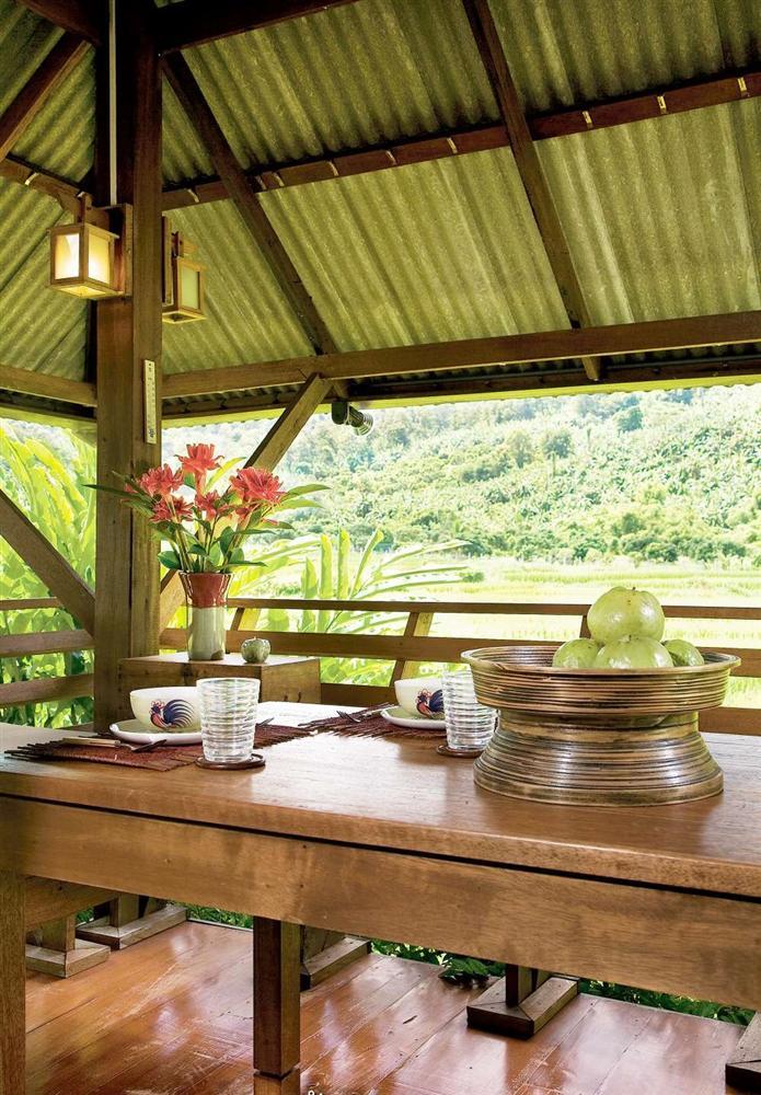 Nhà cấp 4 với thiết kế đẹp lãng mạn giữa cánh đồng lúa xanh tươi ở ngoại ô-5