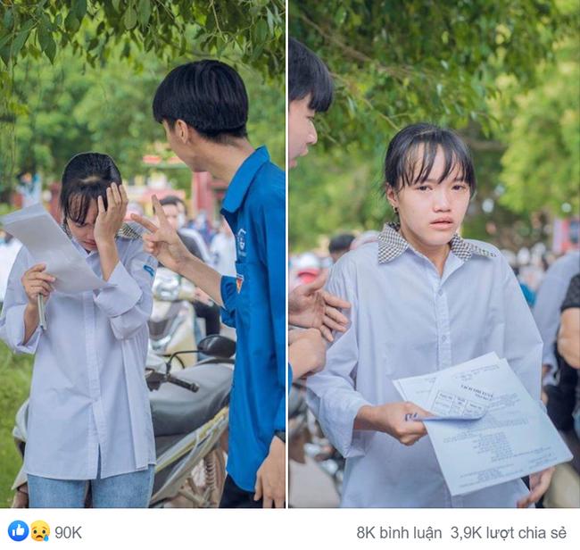 Hình ảnh giọt nước mắt mùa thi trông đến tội, ấy thế nhưng lời động viên cho nữ sinh mới chiếm spotlight với 90 ngàn lượt yêu thích-1