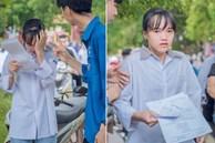 Hình ảnh giọt nước mắt mùa thi trông đến tội, ấy thế nhưng lời động viên cho nữ sinh mới chiếm spotlight với 90 ngàn lượt yêu thích