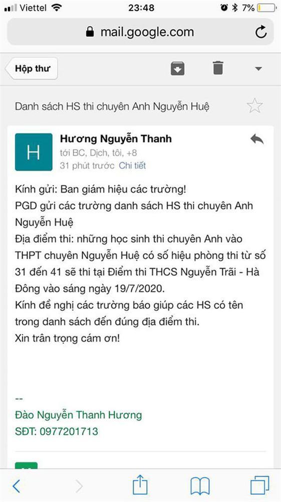 Gần 12h đêm, học sinh Hà Nội bỗng nhận được thông báo đổi địa điểm thi chuyên-1
