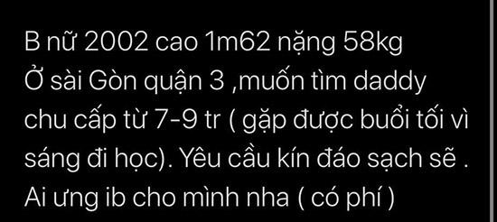 Dân mạng xôn xao group kín facebook các em gái sinh năm 99, 2000 tìm daddy bao nuôi, nhàn nhã mỗi tháng kiếm vài chục triệu-4