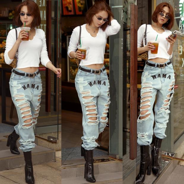 Chán hở trước, Ngọc Trinh lại diện mốt quần jeans hở toang hoác phía sau-12