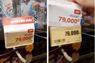 Tò mò bóc giá sản phẩm, thanh niên phát hiện tờ giấy tăng giá dán đè, bức xúc đăng đàn mới biết là mánh nhỏ của siêu thị