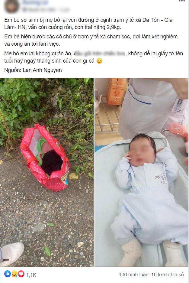 Bé sơ sinh còn nguyên dây rốn bị bỏ rơi cạnh trạm y tế xã: Dư luận chia hai luồng ý kiến tranh cãi về hành động của người mẹ-1