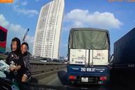 2 cô gái khiến các phương tiện chạy trên đường Vành Đai 3 chiều thứ Sáu 'toát mồ hôi lạnh'