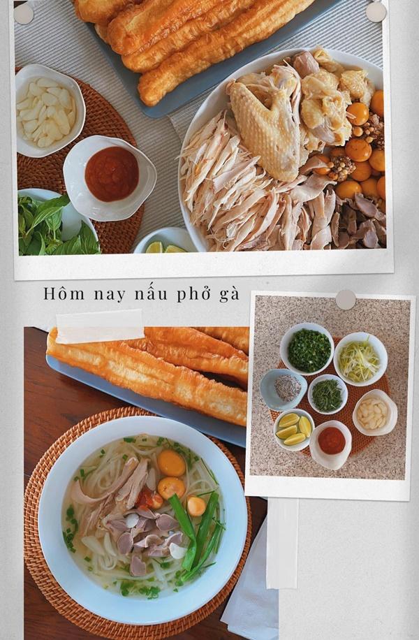 Tăng Thanh Hà nấu cháo trắng lá dứa topping đầy đủ, ông xã Louis Nguyễn làm hành động này đủ biết ngon thế nào-6