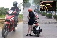 Chị em cứ đi xe máy kiểu này bảo sao xe nhanh 'tã' lại dễ gặp tai nạn