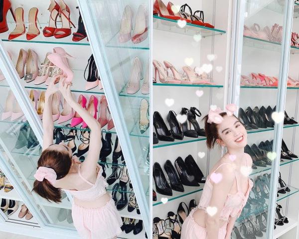 Soi tủ giày của các nàng Hậu, Kỳ Duyên nhiều như núi còn HHen Niê vỏn vẹn vài đôi-11