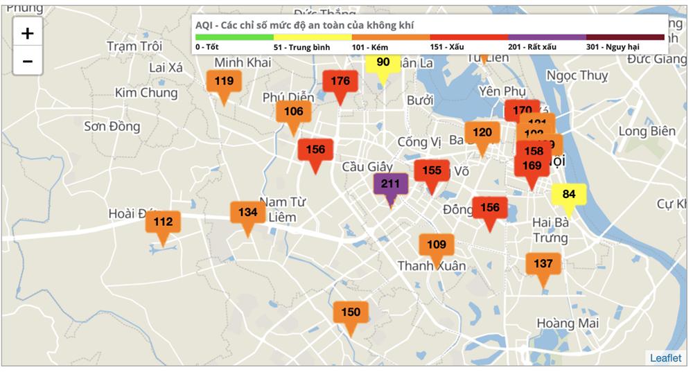 Hà Nội lại ô nhiễm không khí nghiêm trọng-2