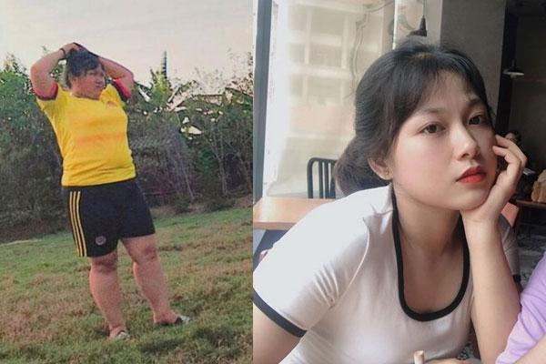 Cô gái nặng 89kg giảm 31kg ngoạn mục đến nỗi không ai nhận ra