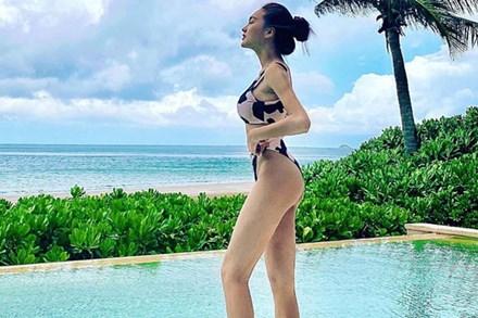 Ngọc Nữ bất ngờ có mặt trong đường đua bikini, tập tành bao lâu cũng đến ngày khoe thành quả
