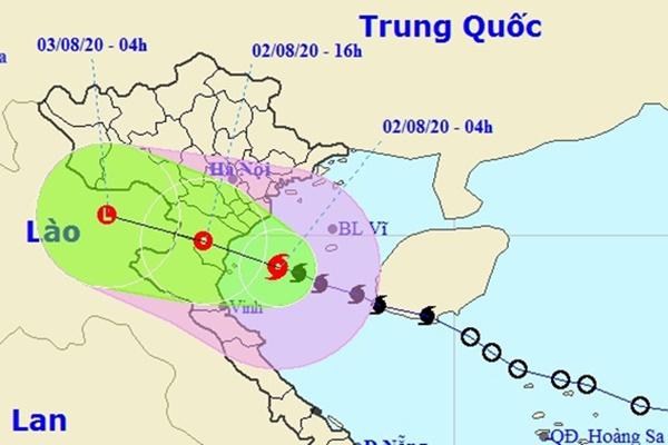 Bão dịch xuống phía nam, hướng vào Ninh Bình - Nghệ An-1