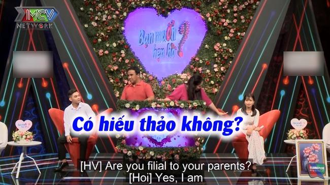 Bạn muốn hẹn hò: Hồng Vân bỗng dưng hỏi nữ chính có hiếu thảo với cha mẹ hay không, liền bị Quyền Linh bắt bẻ-4