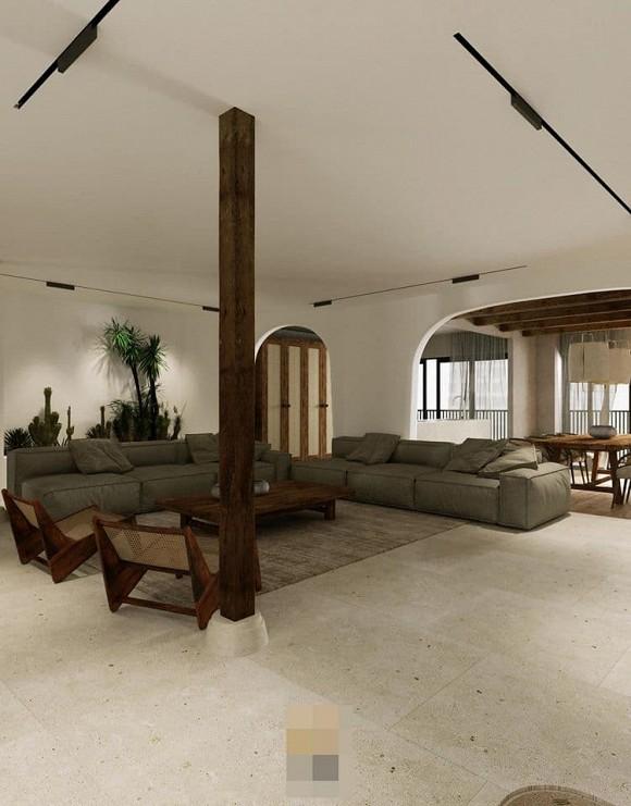 Không gian giản đơn, mộc mạc bên trong căn hộ 350 m2 của ca nương Kiều Anh-2