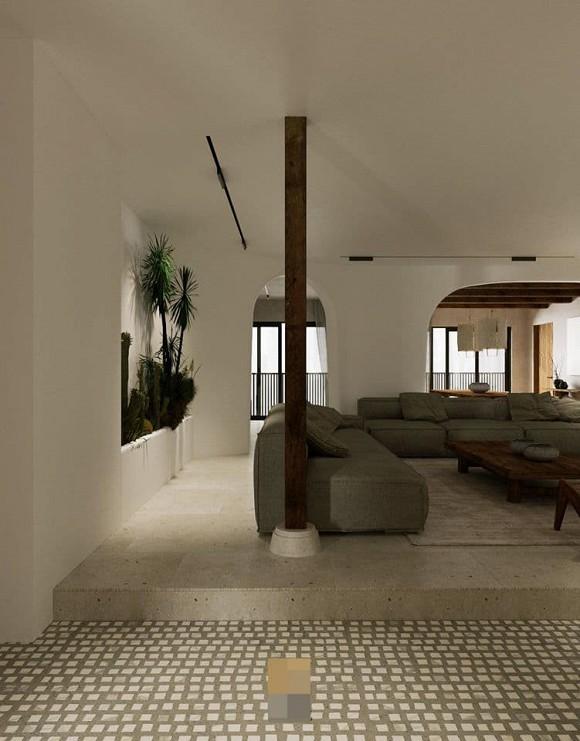 Không gian giản đơn, mộc mạc bên trong căn hộ 350 m2 của ca nương Kiều Anh-5