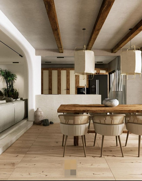 Không gian giản đơn, mộc mạc bên trong căn hộ 350 m2 của ca nương Kiều Anh-7