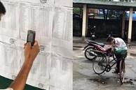 Câu chuyện người cha gầy gò đi xe đạp, dùng chiếc điện thoại cũ để lưu lại điểm thi cho con khiến nhiều người xúc động