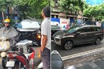 Kinh hãi hình ảnh thanh sắt đâm xuyên nóc ô tô đúng vị trí ghế lái, tài xế thoát chết trong gang tấc
