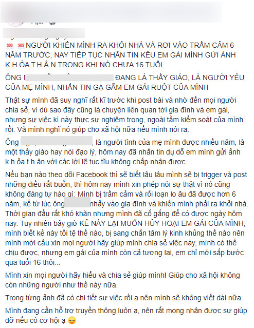 Con trai tố người tình của mẹ nhắn tin gạ gẫm em gái chưa đầy 16 tuổi gửi ảnh khỏa thân-1