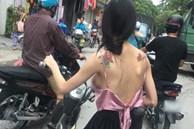 Cô gái mặc áo dây để lộ vòng 1 hớ hênh khi đi đường, dân tình lắc đầu: 'Quá phản cảm'