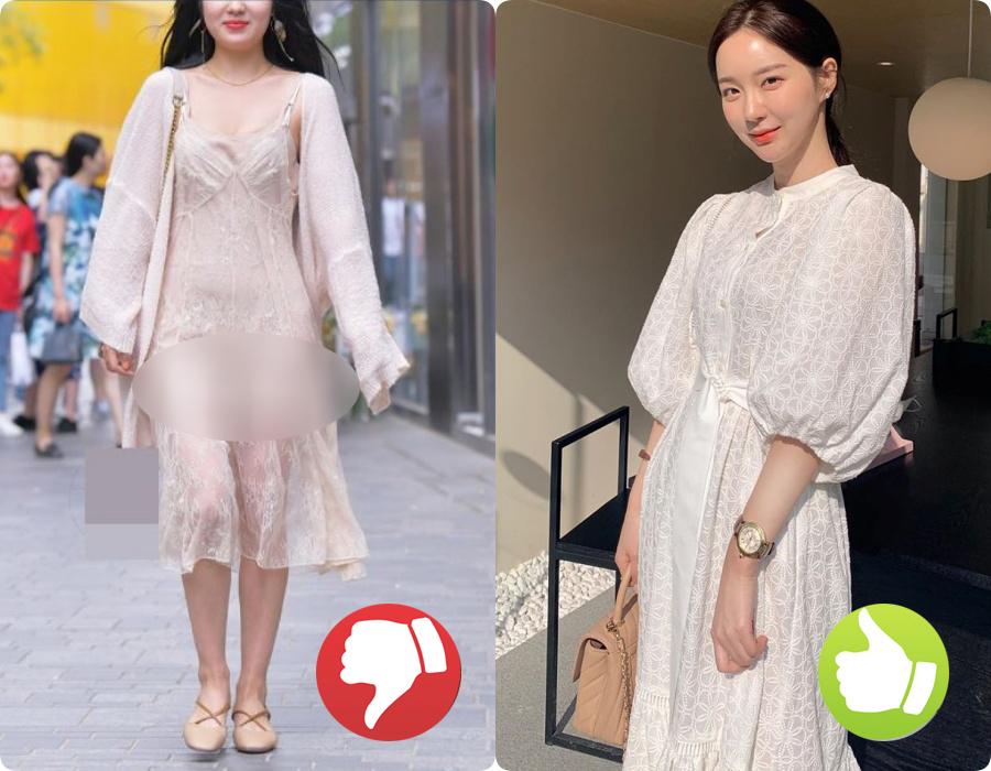Cứ nghĩ váy áo trắng là thanh lịch duyên dáng nhất rồi, nào ngờ cũng đầy rẫy thảm họa nhé các nàng ơi!-1