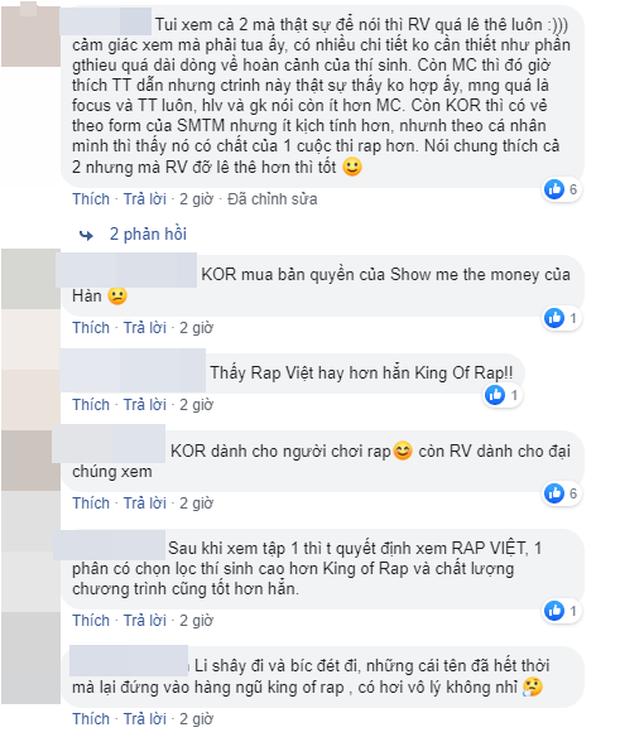 Dân mạng bàn phím chiến kịch liệt: Rap Việt nhận cơn mưa lời khen, người mê King Of Rap chê đối thủ không chất?-6