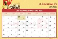 Lễ Quốc khánh 2/9/2020 được nghỉ mấy ngày?