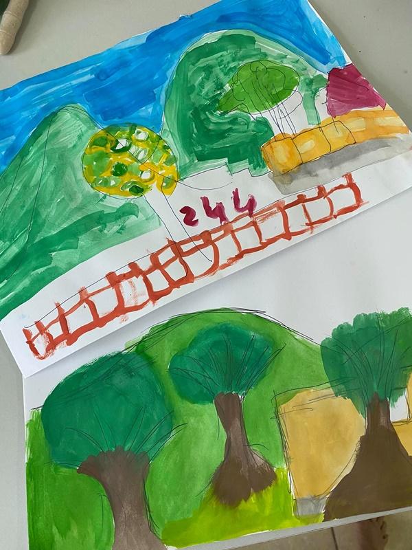 Bé Tôm nhà Hồng Nhung tại khu cách ly đã không còn ôm ipad, bức tranh Tép vẽ mới đáng ngạc nhiên-4