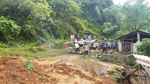 Sạt lở đất ở Lào Cai, 2 vợ chồng tử vong-1