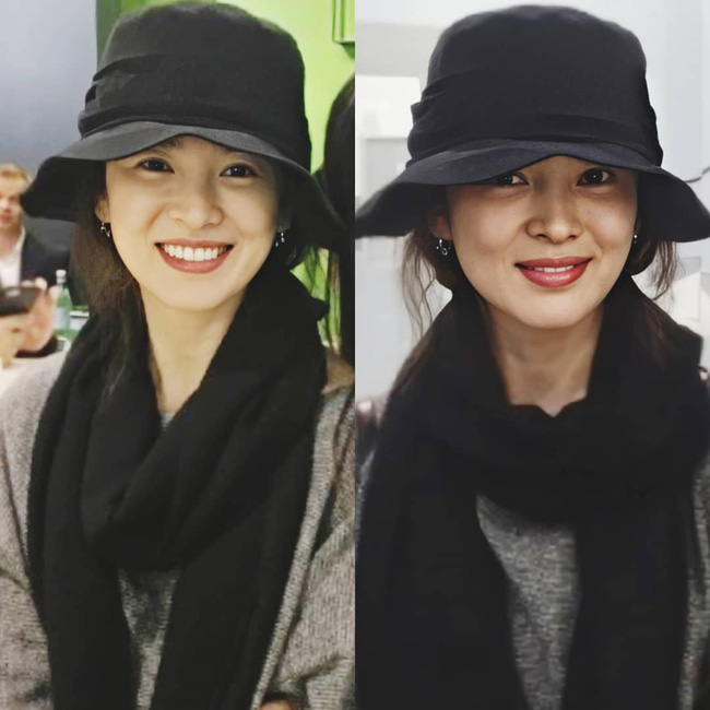 Nhan sắc của Song Hye Kyo xuất chúng đến nỗi cân đẹp mọi kiểu mũ dù sến hay lỗi thời tới đâu-1