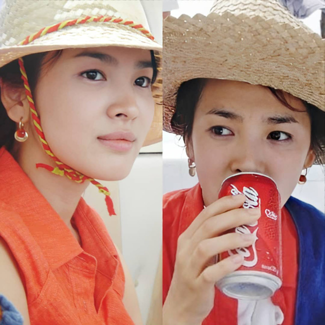 Nhan sắc của Song Hye Kyo xuất chúng đến nỗi cân đẹp mọi kiểu mũ dù sến hay lỗi thời tới đâu-3