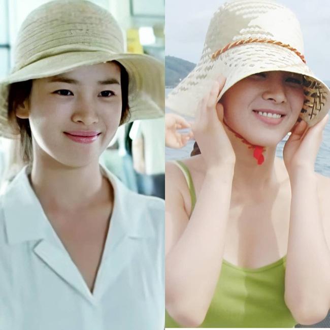 Nhan sắc của Song Hye Kyo xuất chúng đến nỗi cân đẹp mọi kiểu mũ dù sến hay lỗi thời tới đâu-4