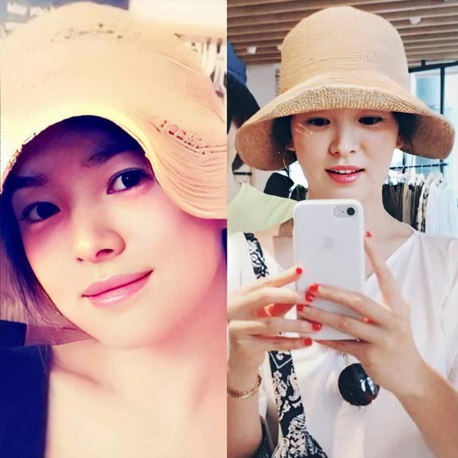 Nhan sắc của Song Hye Kyo xuất chúng đến nỗi cân đẹp mọi kiểu mũ dù sến hay lỗi thời tới đâu-5