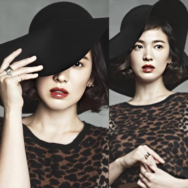 Nhan sắc của Song Hye Kyo xuất chúng đến nỗi cân đẹp mọi kiểu mũ dù sến hay lỗi thời tới đâu-8