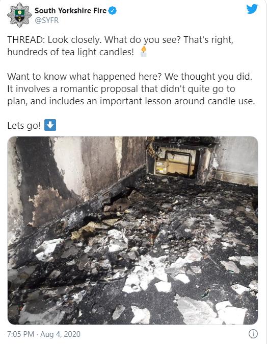 Chàng trai thắp nến rồi phóng xe chở bạn gái đến để cầu hôn, tưởng lãng mạn nào ngờ cháy cả ngôi nhà nhưng vẫn được dân mạng chúc mừng-3