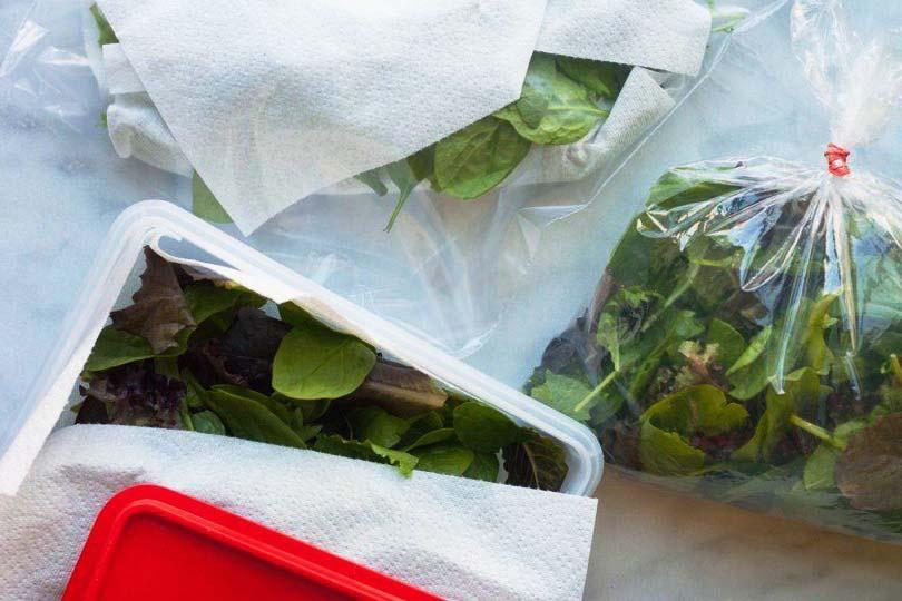 Chỉ bằng 1 tờ giấy, mách bạn mẹo bảo quản rau xanh trong tủ lạnh được lâu vào mùa dịch-1